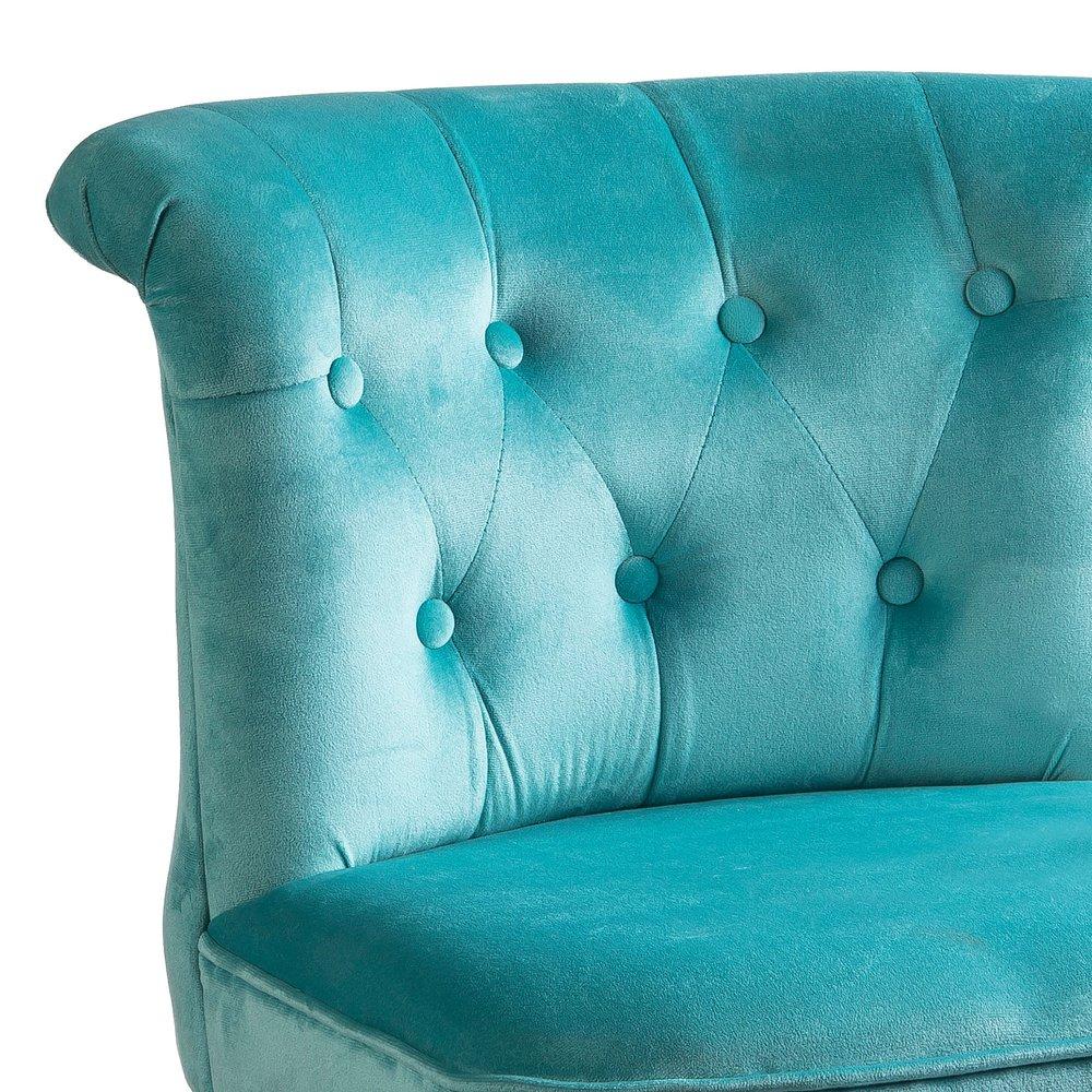 Lot de 2 fauteuils crapaud en velours bleu clair TOADY