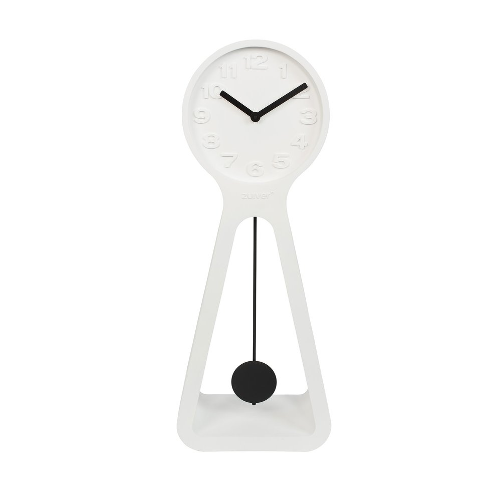 Horloge - Pendule - Horloge 38x2x97,5 cm en résine blanc - GIANT photo 1