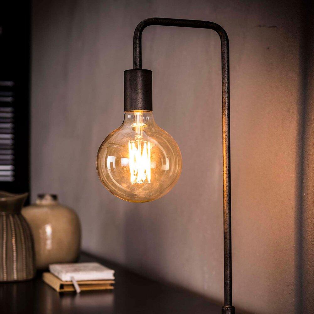 Luminaire - Lampe de table 14x16x50 cm en métal argenté photo 1