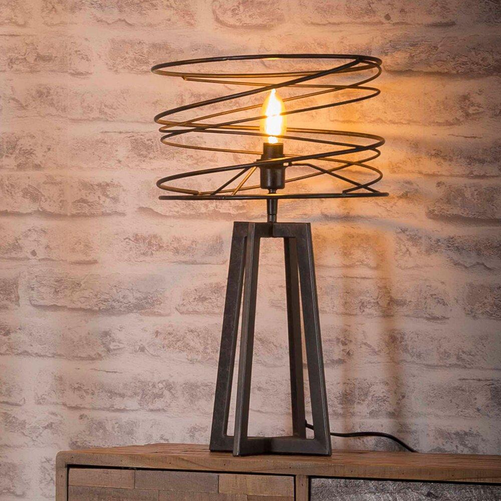 Luminaire - Lampe de table avec abat-jour spirale 30x50 cm en métal - SPIRA photo 1