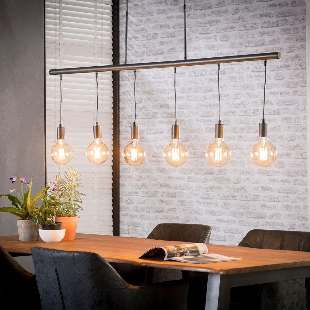 Luminaire - Suspension 6 lampes suspendues 150x150 cm en métal photo 1