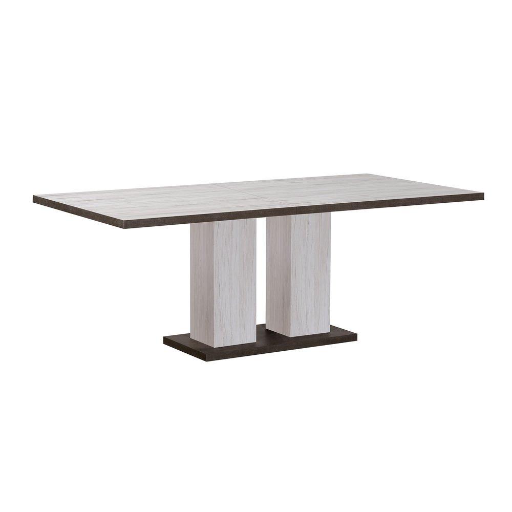 Canapé - Table à manger 180/240x90x75 cm gris et béton - SENTIA photo 1