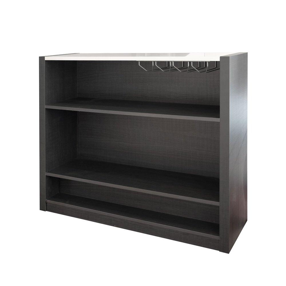 Meuble Bar 125x40x101 Cm Noir Et Blanc Brillant Avec Leds Aloys Maison Et Styles