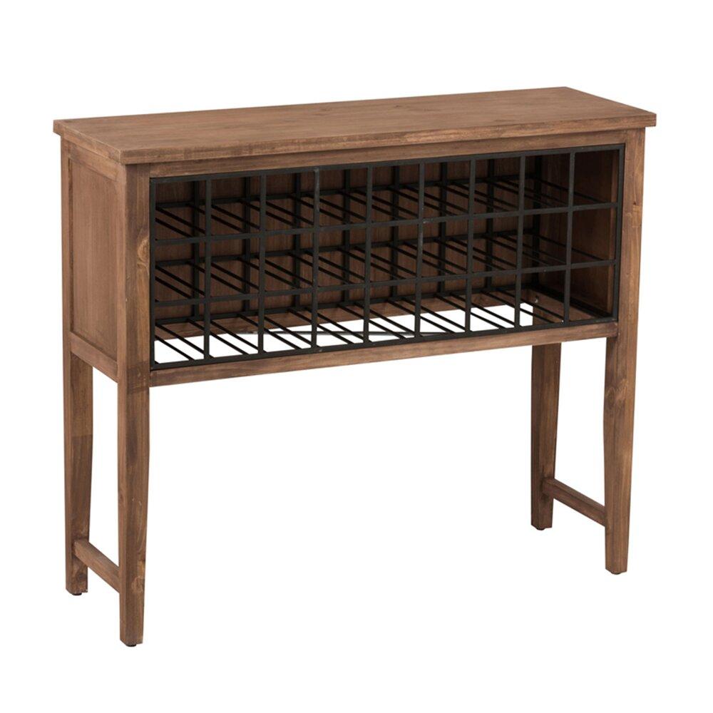 Meuble Mini Bar D Angle meuble-bar range-bouteilles en pin et métal | maison et styles