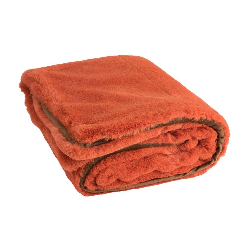 Couvre-lits et accessoires - Plaid 180x130 cm orange - LOYD photo 1