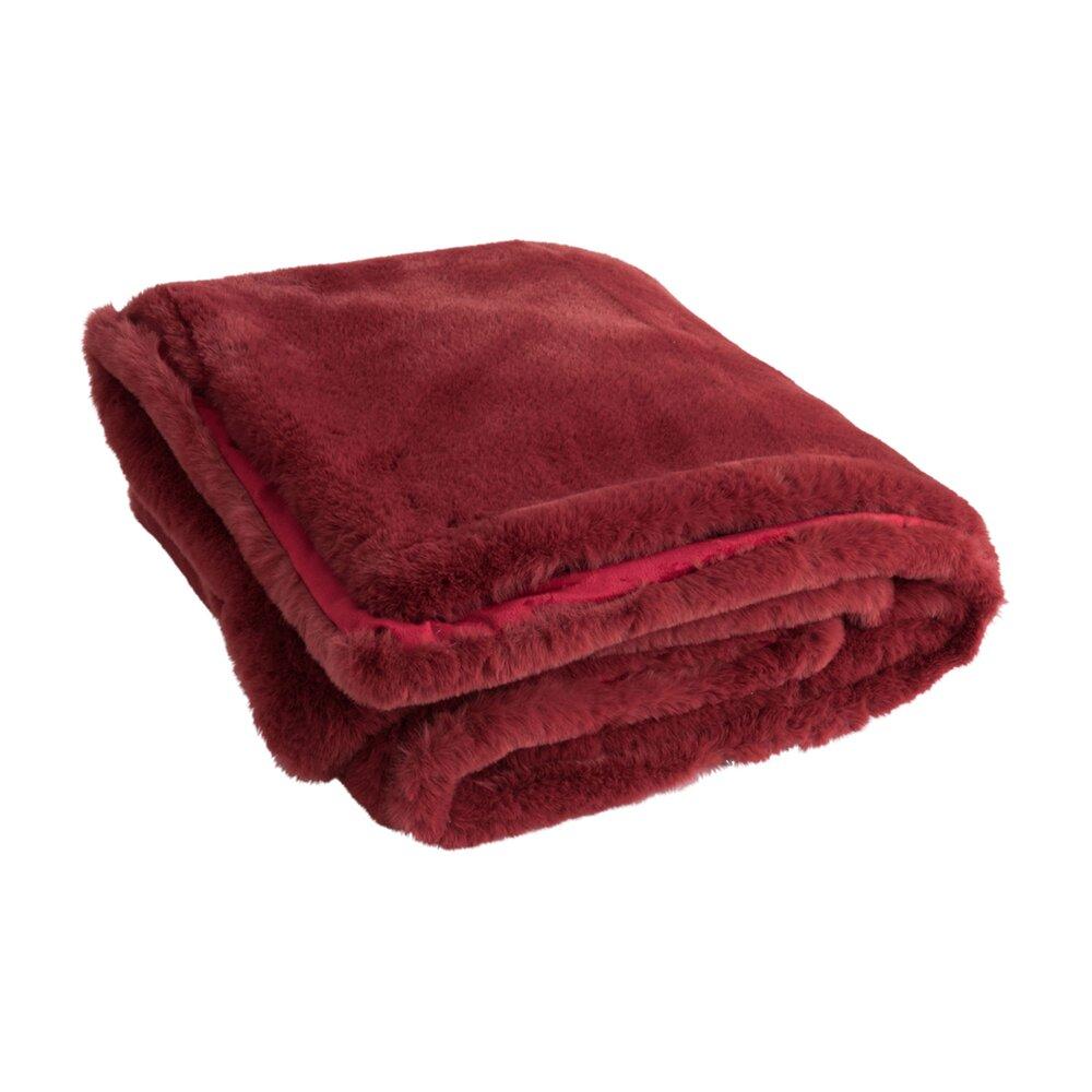 Couvre-lits et accessoires - Plaid 180x130 cm rouge - LOYD photo 1
