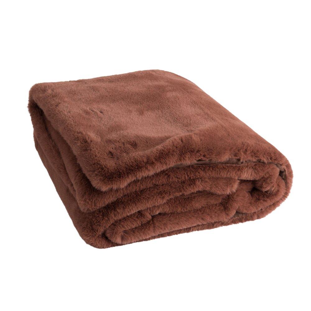 Couvre-lits et accessoires - Plaid 180x130 cm marron clair - LOYD photo 1