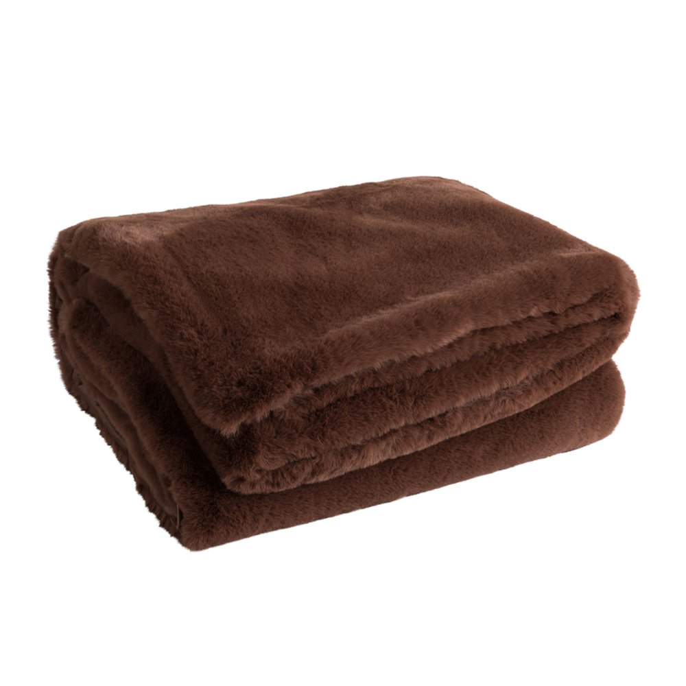 Couvre-lits et accessoires - Plaid 180x130 cm marron - LOYD photo 1