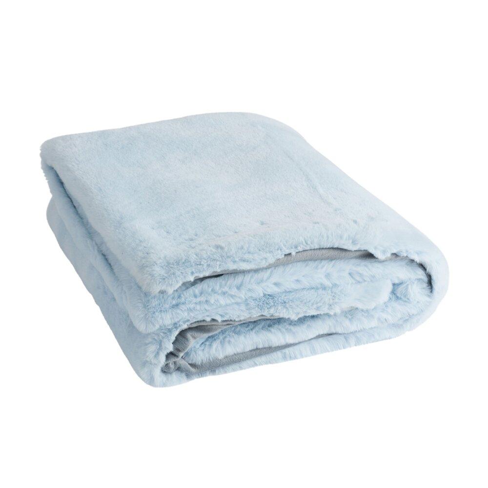 Couvre-lits et accessoires - Plaid 180x130 cm bleu clair - LOYD photo 1