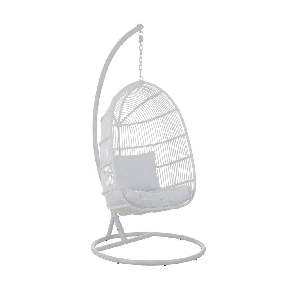 Fauteuil - Fauteuil suspendue 119x105x193 cm en métal blanc - KYOTO photo 1