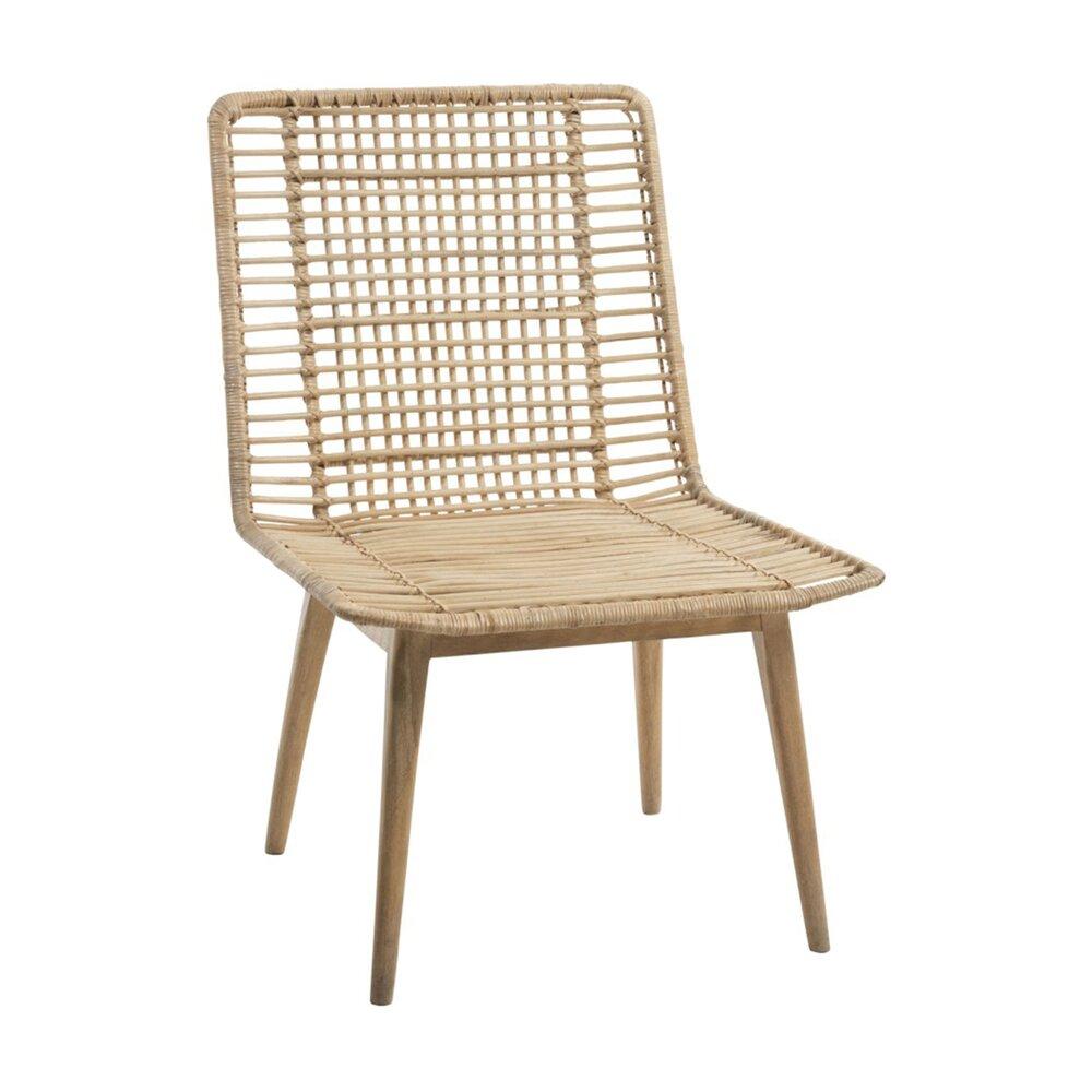 Chaise - Chaise 56x62x80 cm en manguier et rotin naturel - ALIZA photo 1