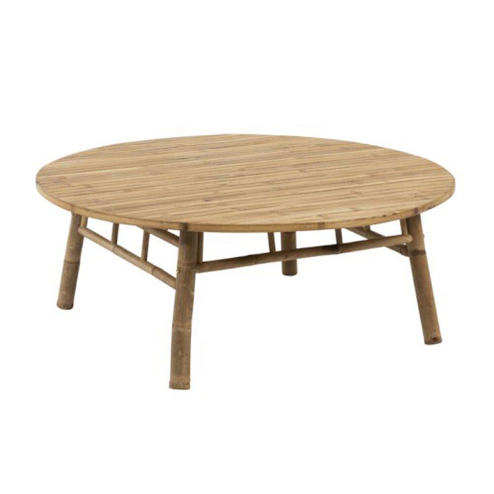Table basse 120x120x46 cm en bambou naturel ROMY | Maison