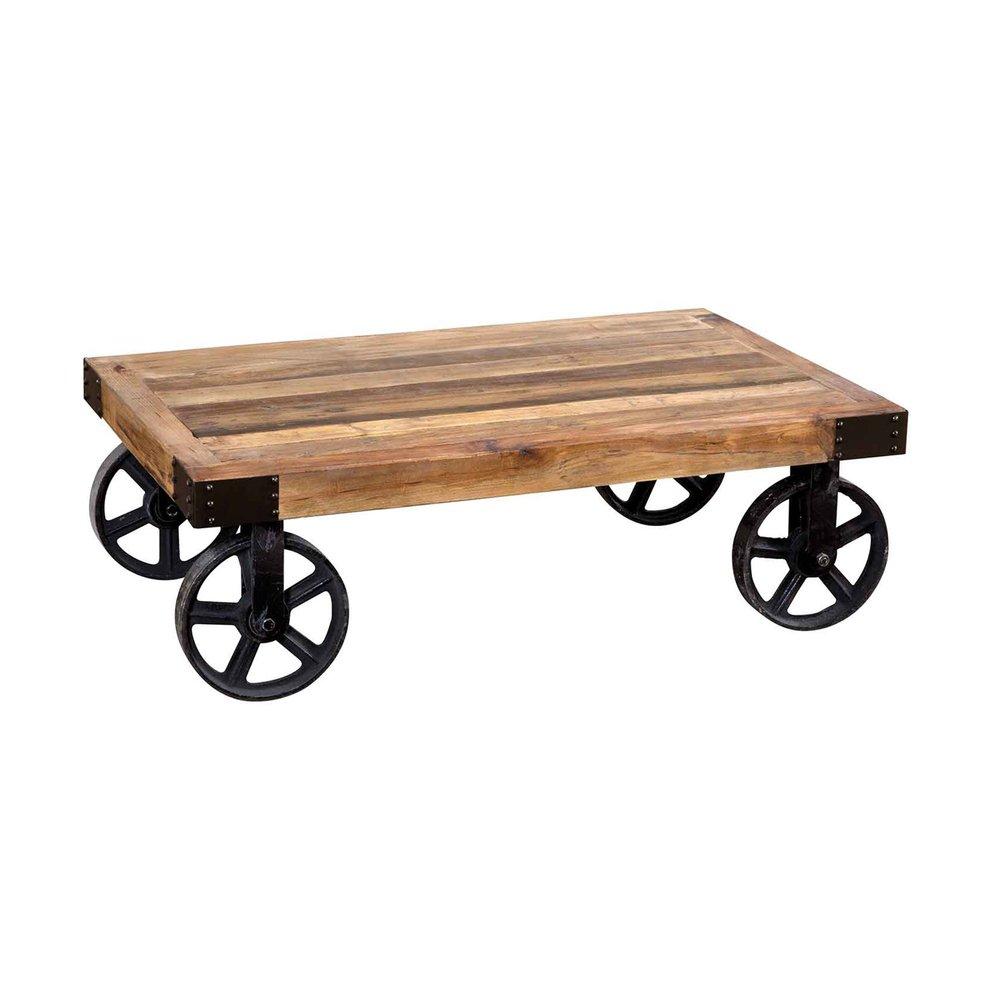 Table basse - Table basse 75x110x39 cm en bois et métal - ATELIER METAL photo 1