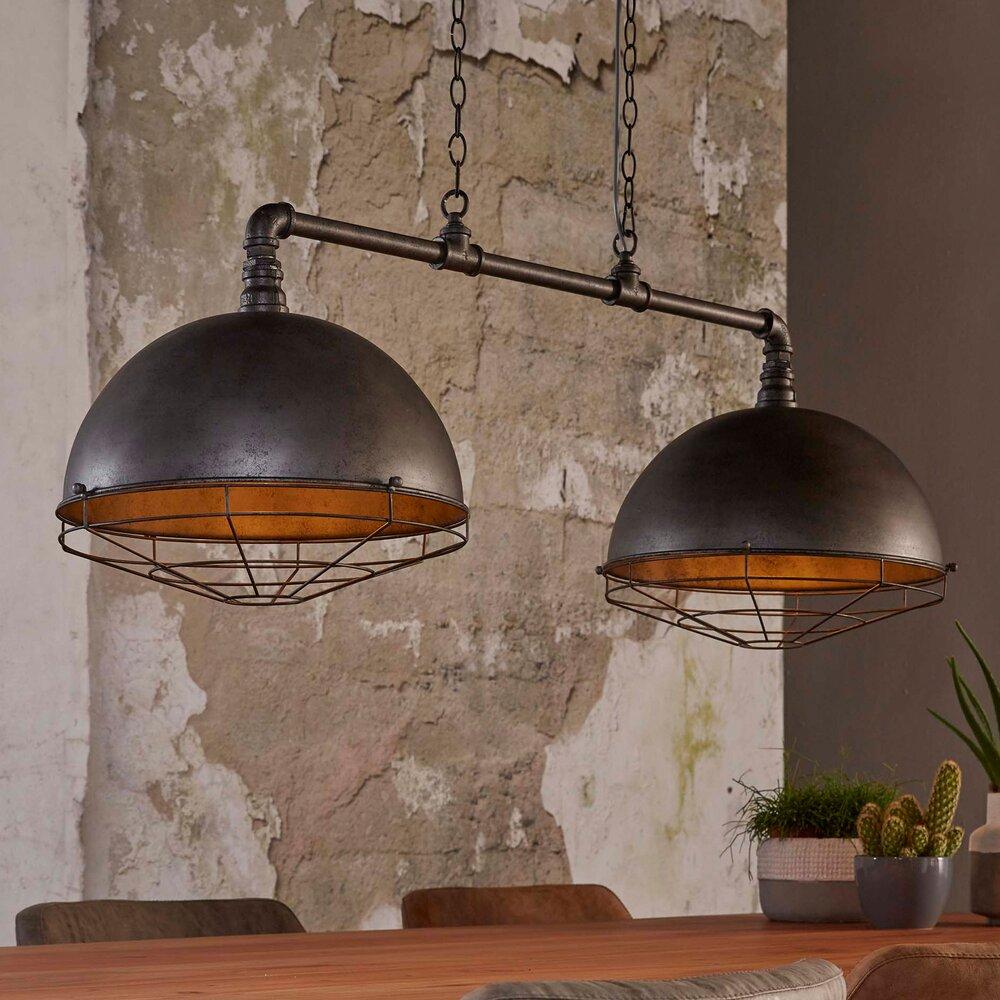 Luminaire - Suspension industrielle avec 2 abats-jour ronds 40 cm photo 1