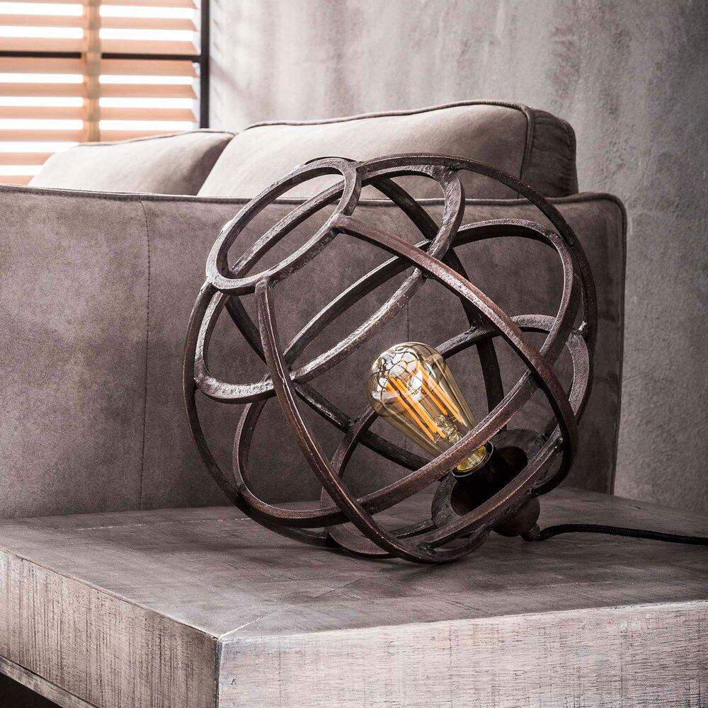 Déco - Lampe de table industrielle 33x33x30 cm en métal cuivré photo 1