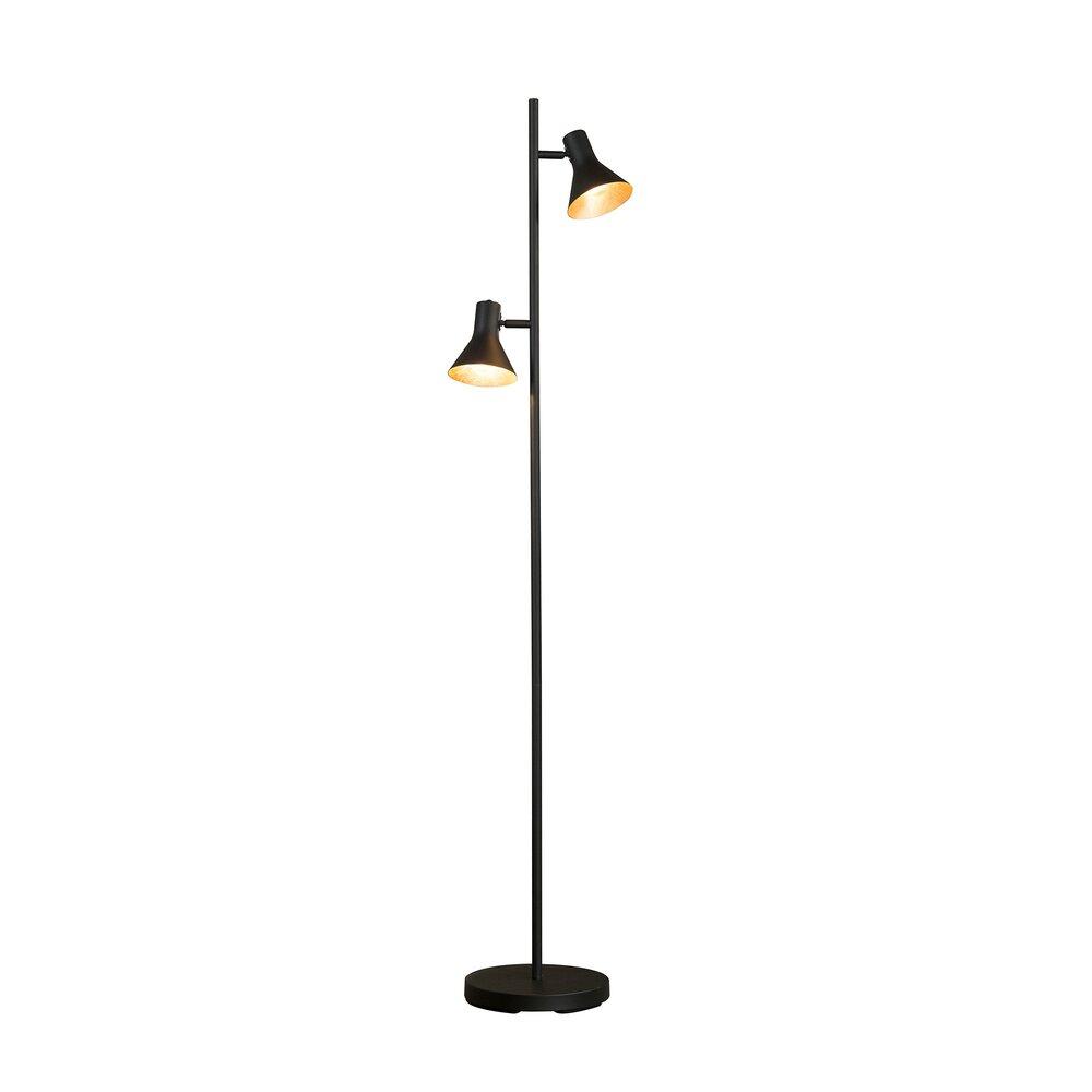 Luminaire - Lampadaire double lampe 33x23x143 cm en métal noir photo 1