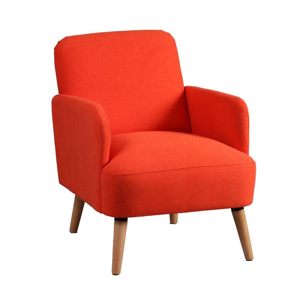 Fauteuil - Fauteuil 63x75x79 cm en tissu orange - PORTLAND photo 1