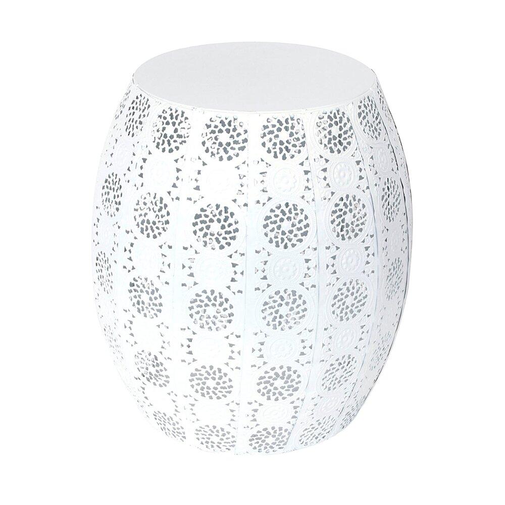 d'appoint Table cm en blancMaison métal 30x30x35 design SzMVUpq