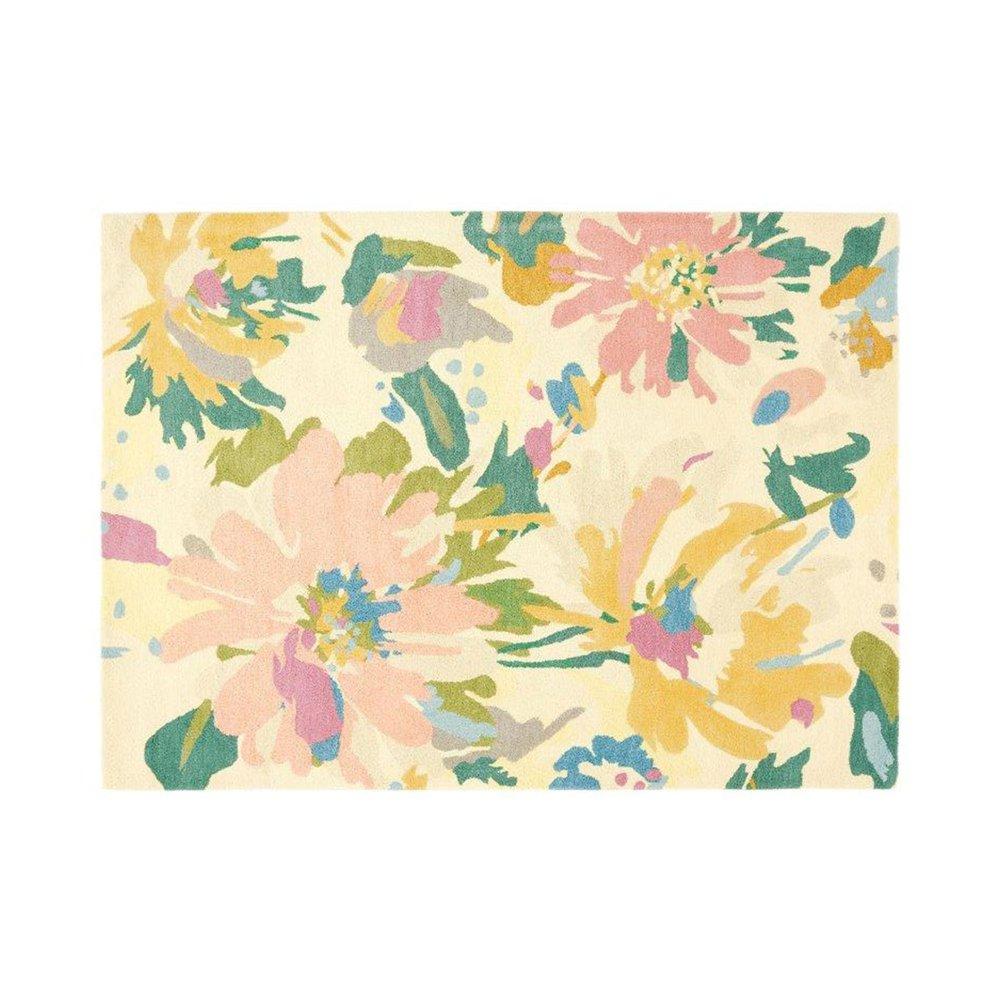 Tapis - Tapis 160x230 cm en laine à motif floral - NEDLE photo 1