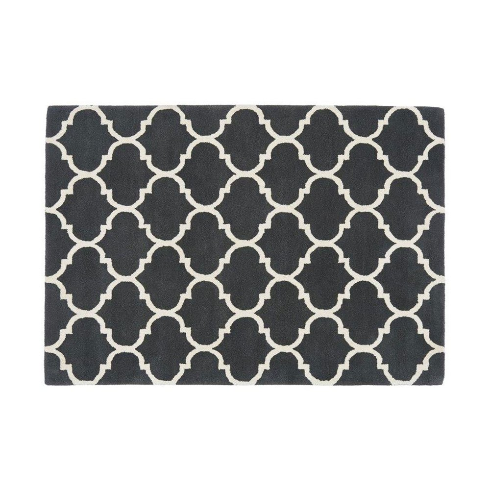 Tapis - Tapis 160x230 cm en velours anthracite - HAKIN photo 1