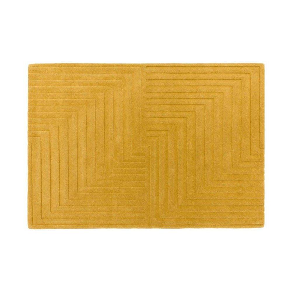 Tapis - Tapis design 120x170 cm en laine ocre - PAMPA photo 1