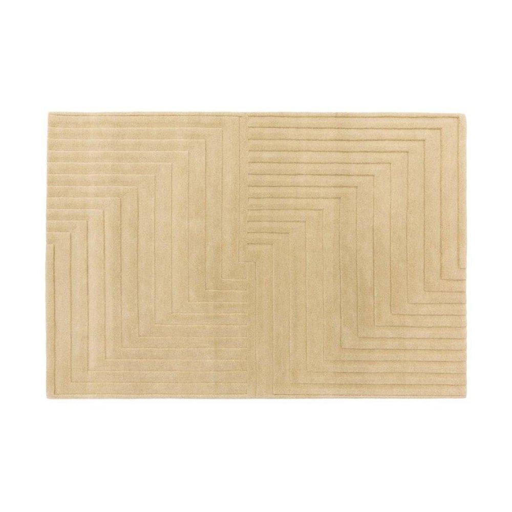 Tapis - Tapis design 120x170 cm en laine naturel - PAMPA photo 1