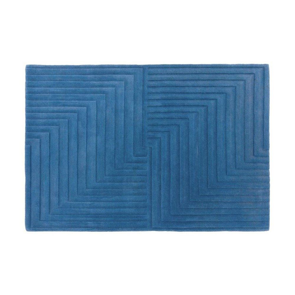 Tapis - Tapis design 120x170 cm en laine bleue - PAMPA photo 1