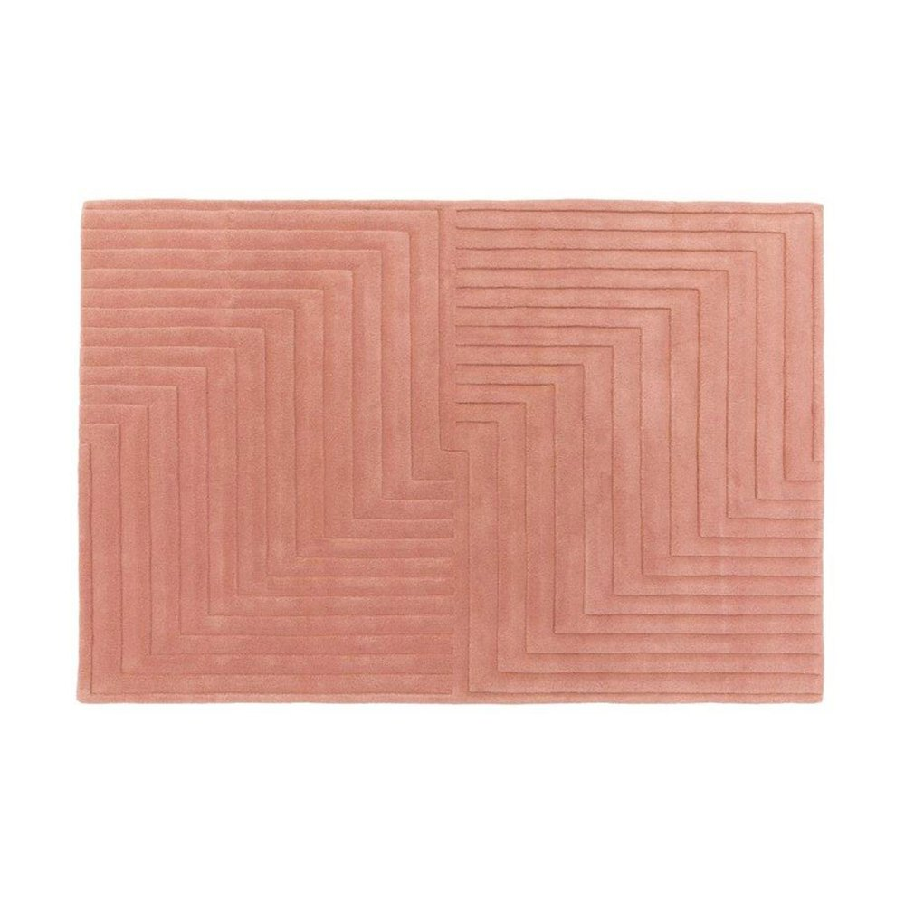 Tapis - Tapis design 120x170 cm en laine rose - PAMPA photo 1
