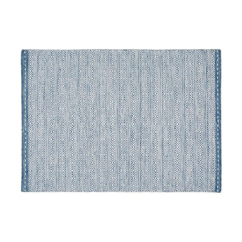 Tapis - Tapis 160x230 cm en tissu bleu - OUZIA photo 1