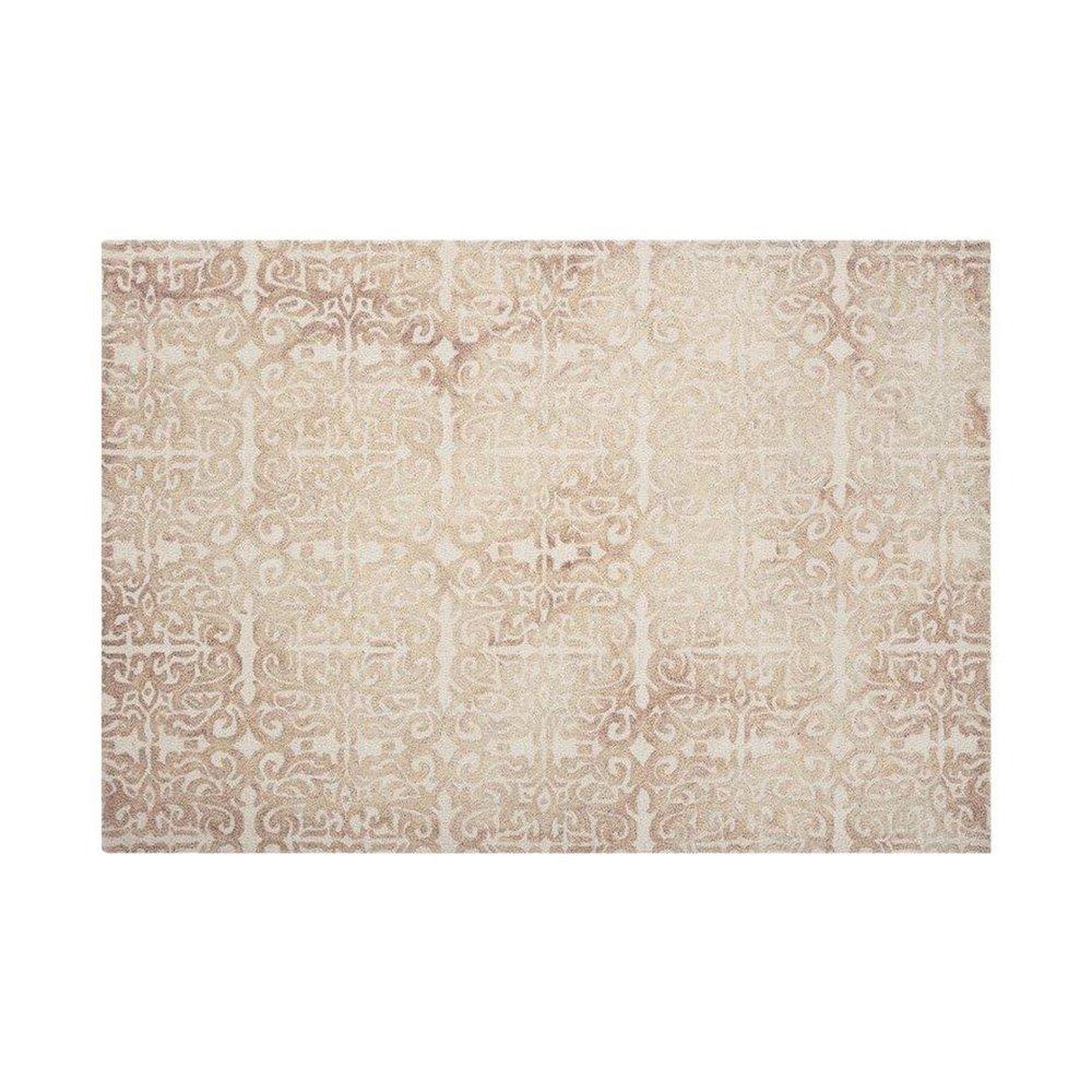 Tapis - Tapis 120x170 cm en laine et coton beige - ALGO photo 1