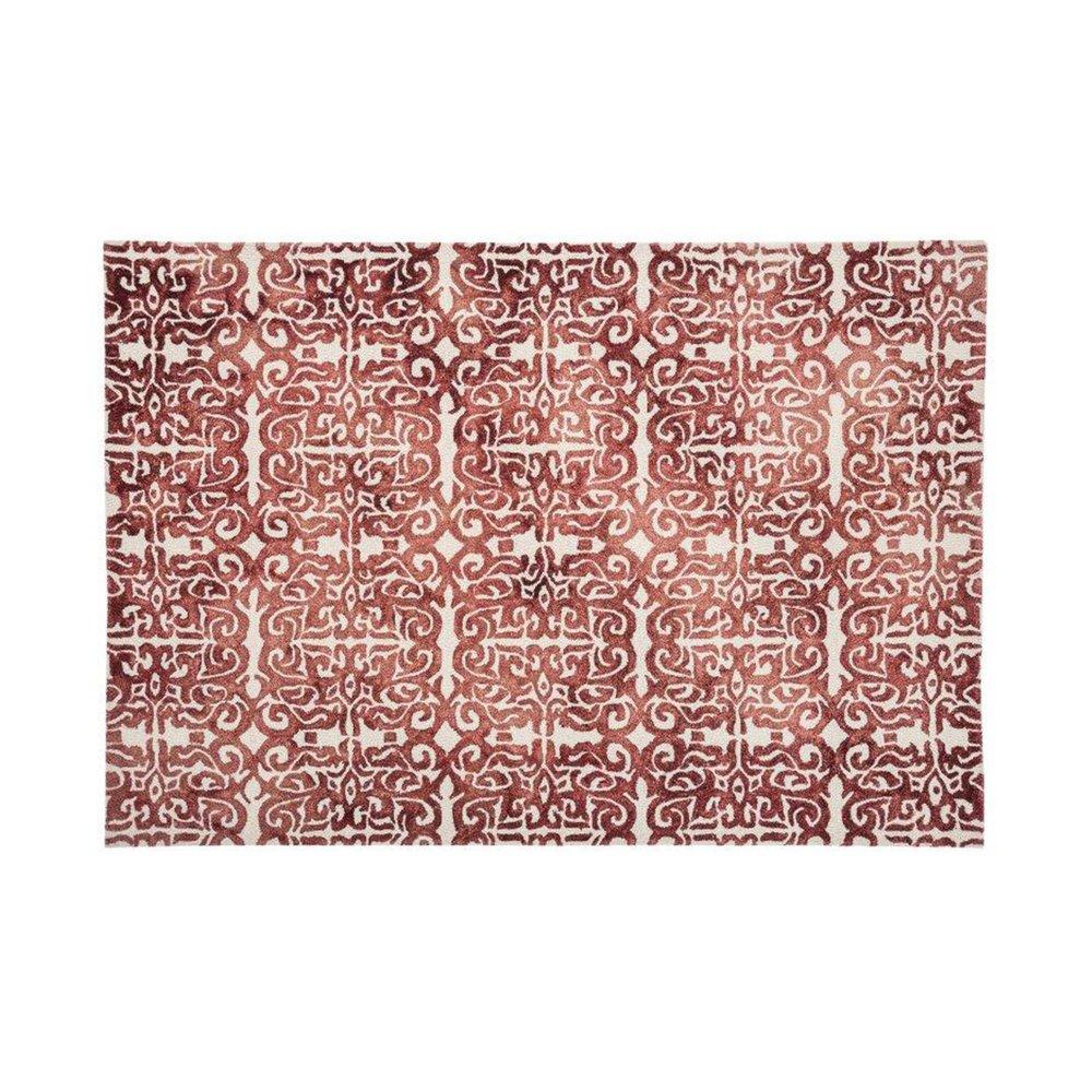 Tapis - Tapis 120x170 cm en laine et coton rouge - ALGO photo 1