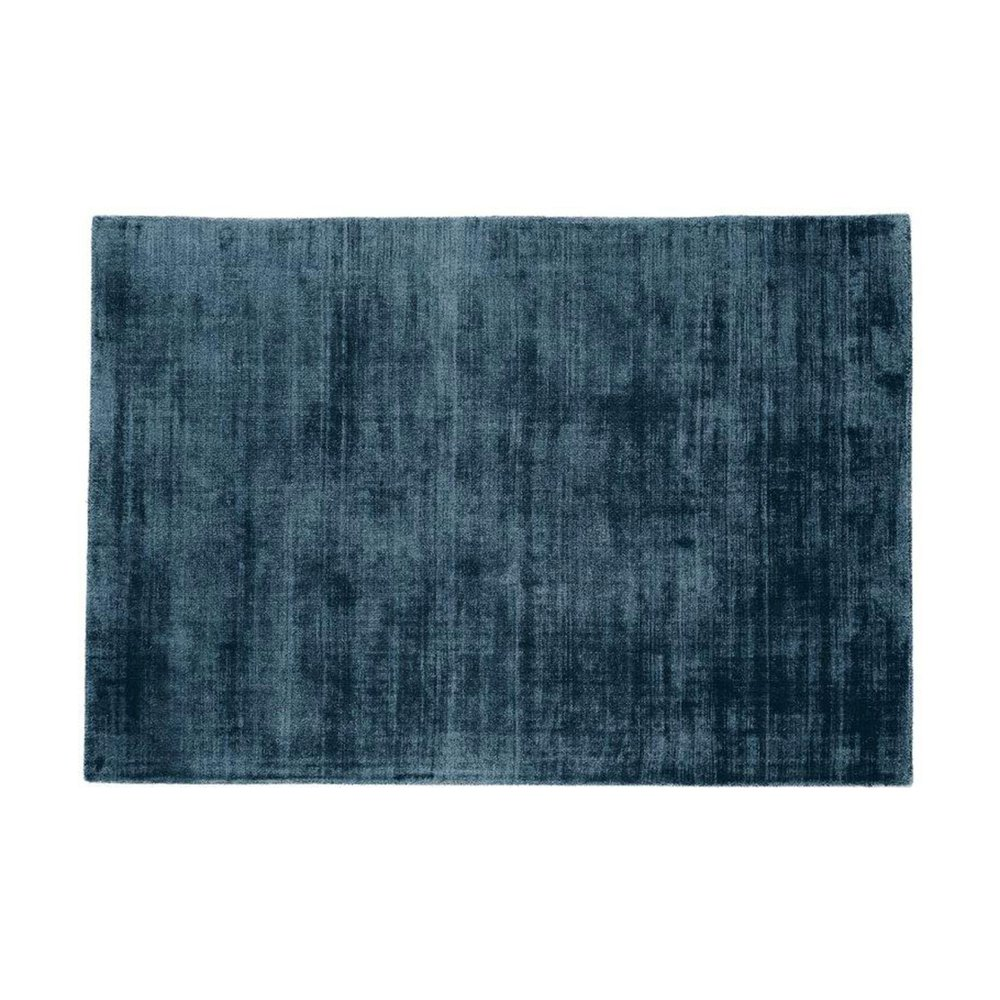 Tapis - Tapis 120x170 cm en viscose bleu foncé - FLASH photo 1