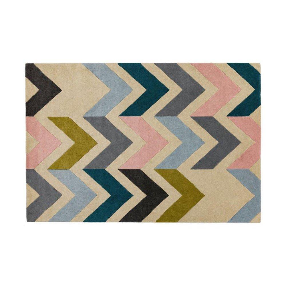 Tapis - Tapis 120x170 cm en laine à motif chevrons - NEDLE photo 1