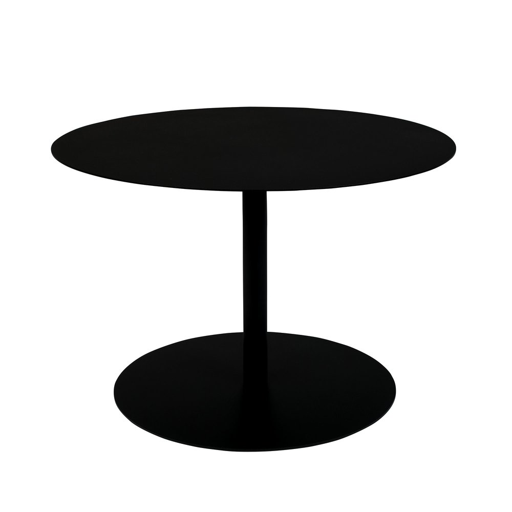 Table basse - Table basse ronde 60x40 cm en acier noir - SNOW photo 1