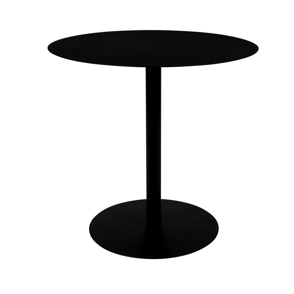 Table basse - Table d'appoint ronde 35x45 cm en acier noir - SNOW photo 1