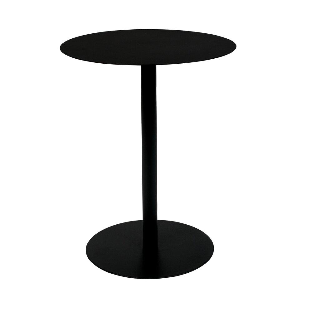 Table basse - Table basse 42x31x40 cm en acier noir - SNOW photo 1