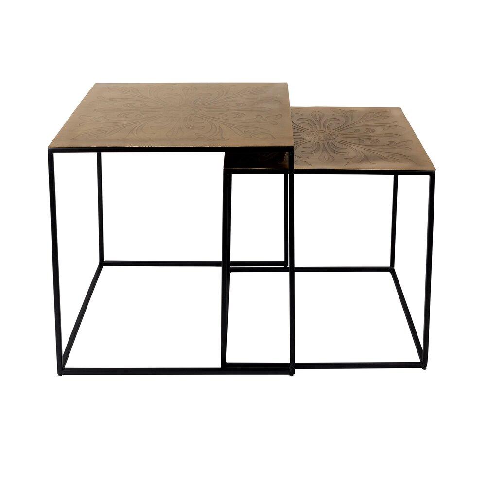 Table basse - Lot de 2 tables basses 40 et 46 cm en laiton photo 1