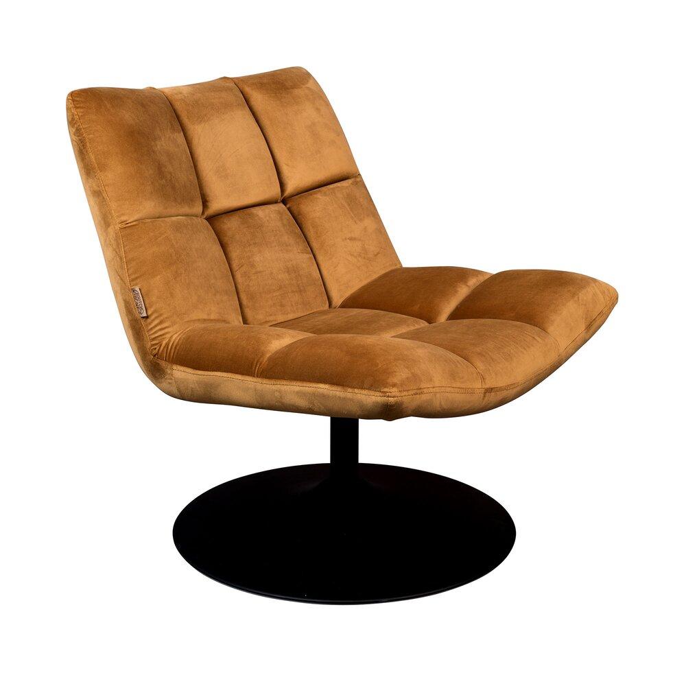en or tissu 66x81x78 CHAIRBAR lounge Fauteuil cm velours nw80OPk
