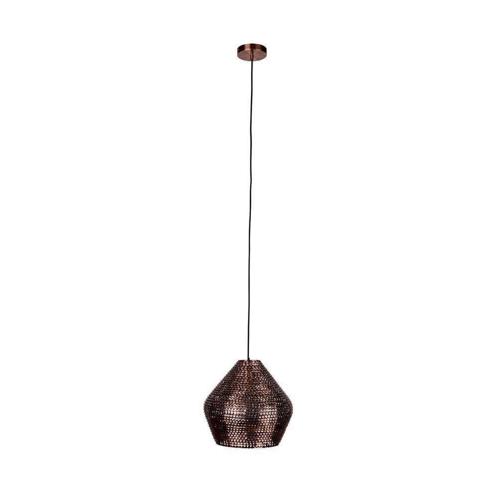 Luminaire - Suspension 35x35x150 cm en fer cuivré - COOPER photo 1