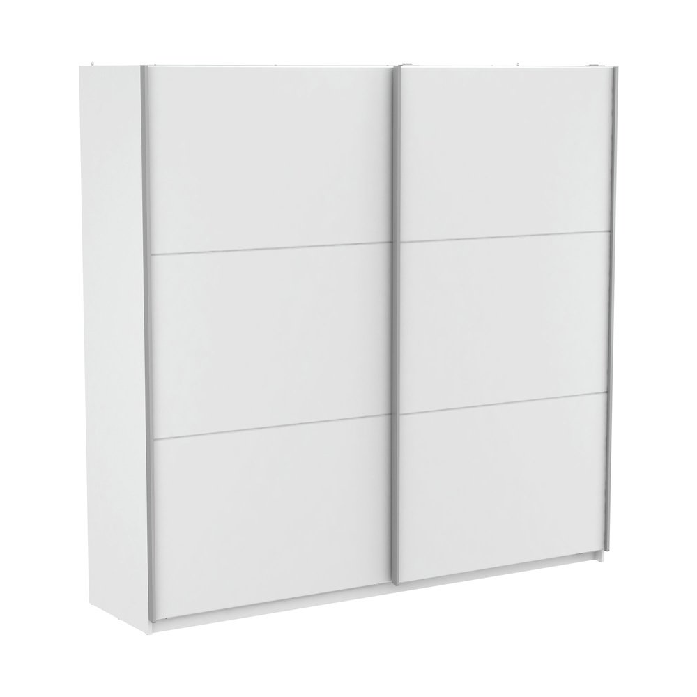 Armoire - Armoire 2 portes coulissantes 229x65x224 cm blanc - KELYS photo 1