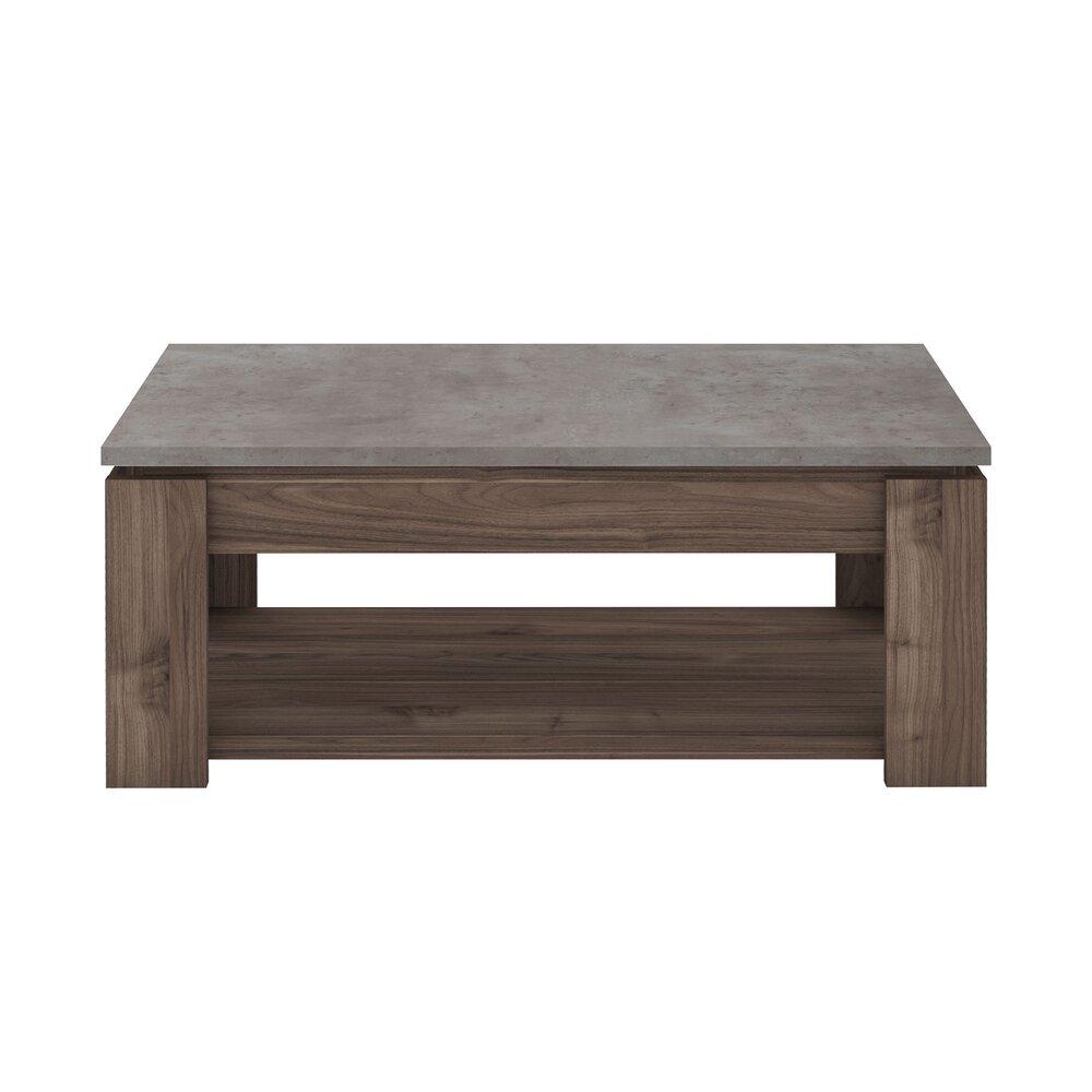Table basse - Table basse 110 cm marron et plateau béton - ELIOTT photo 1