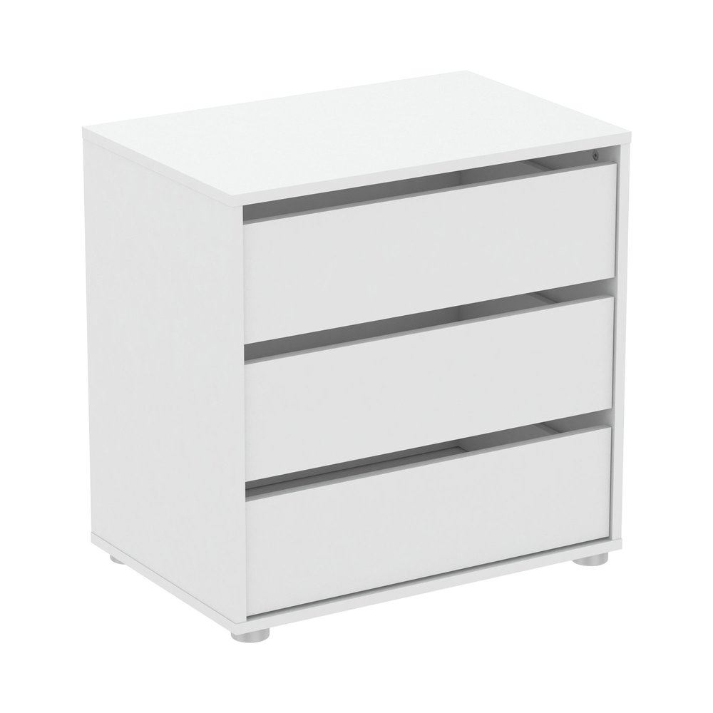 Commode - Coiffeuse - Commode 3 tiroirs 60x40x58 cm blanc - LUIS photo 1