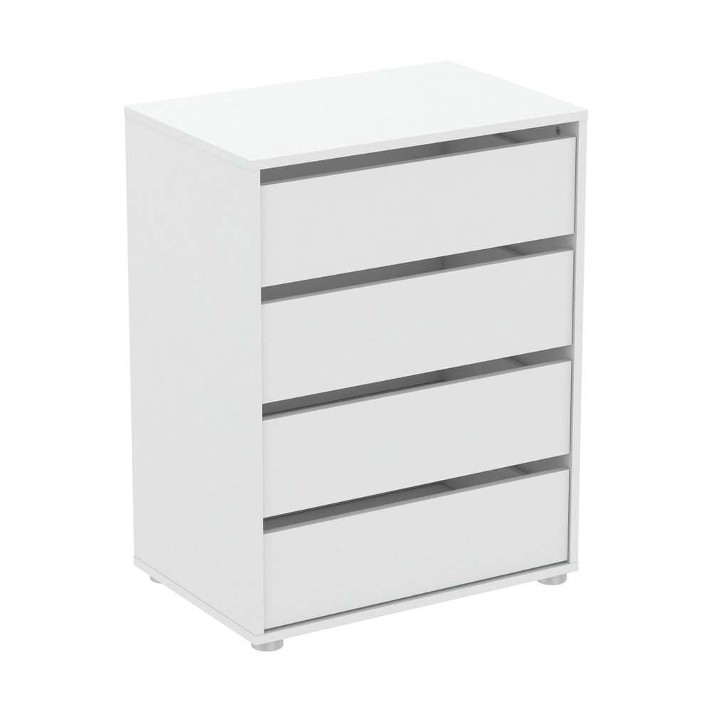 Commode - Coiffeuse - Commode 4 tiroirs 60x40x76 cm blanc - LUIS photo 1