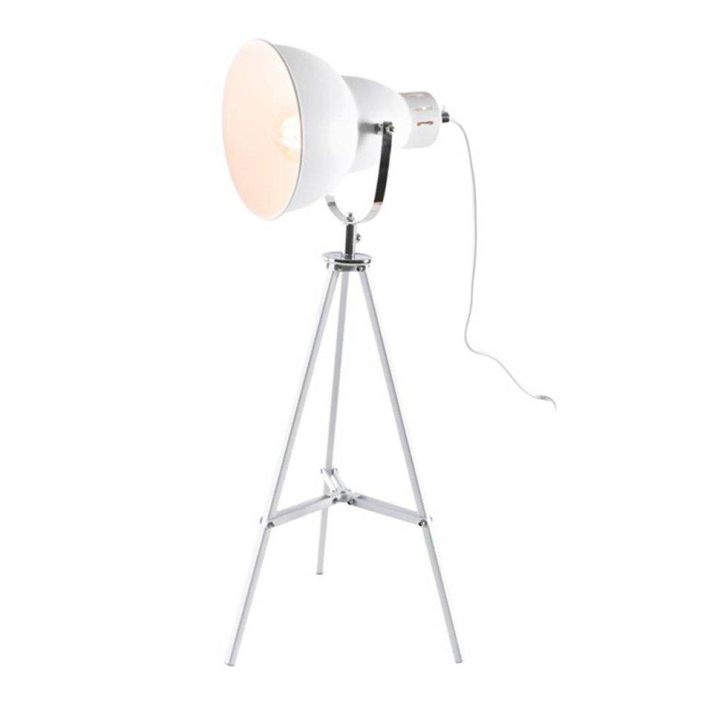 Luminaire - Lampe à poser 26x26x65 cm en métal blanc - DYNA photo 1