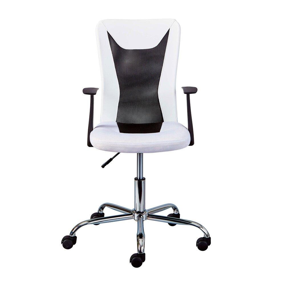 Fauteuil de bureau - Chaise de bureau enfant avec accoudoirs blanc et noir - CHILD photo 1