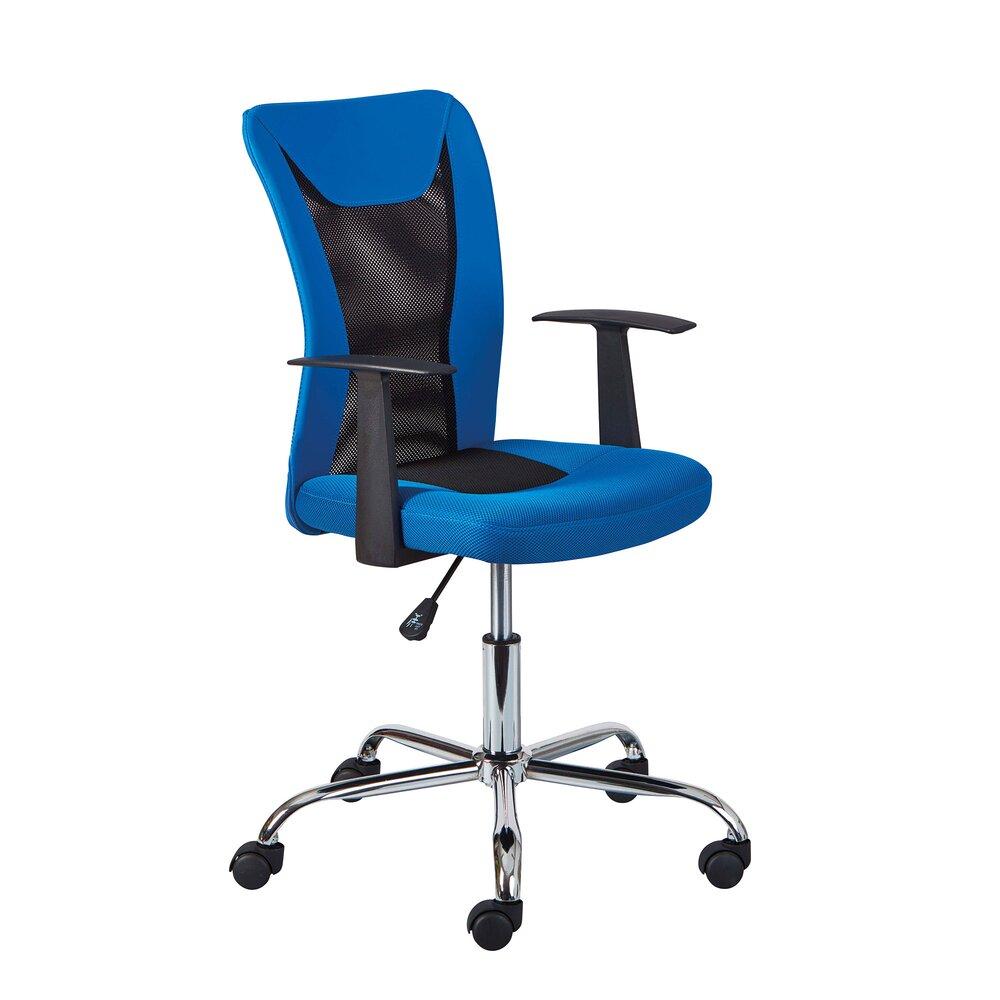 Fauteuil de bureau - Chaise de bureau enfant avec accoudoirs bleu et noir - CHILD photo 1
