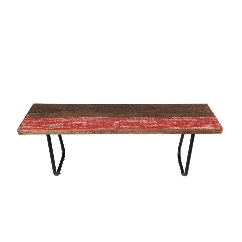 Banquette - Banc 130x35x48 cm en bois recyclé - ALMON photo 1