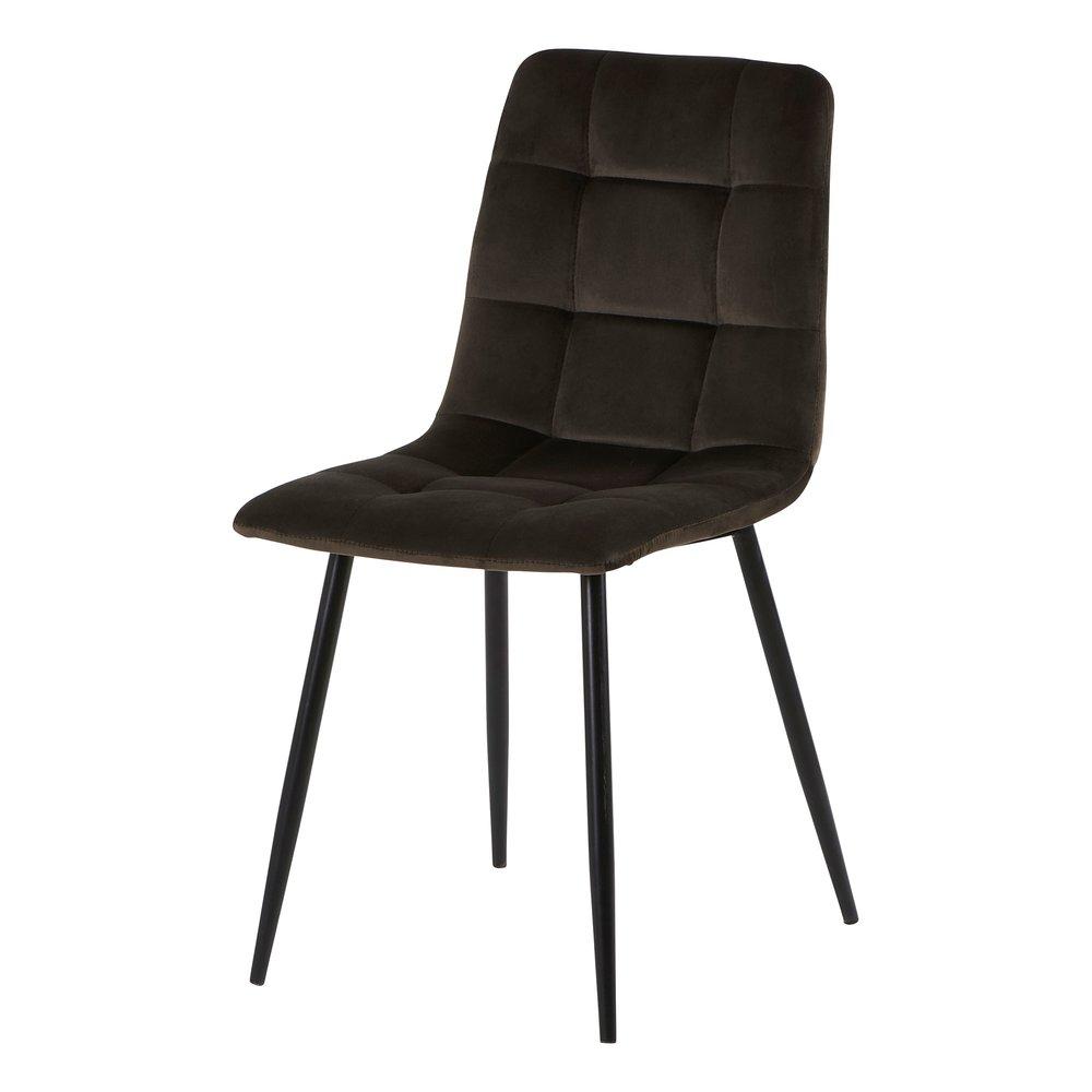 Chaise - Lot de 2 chaises 41x38x89 cm en velours marron - PUNTY photo 1