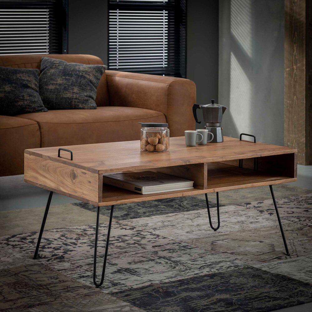 Table basse - Table basse 100x60x45 cm en acacia massif - IOANIS photo 1