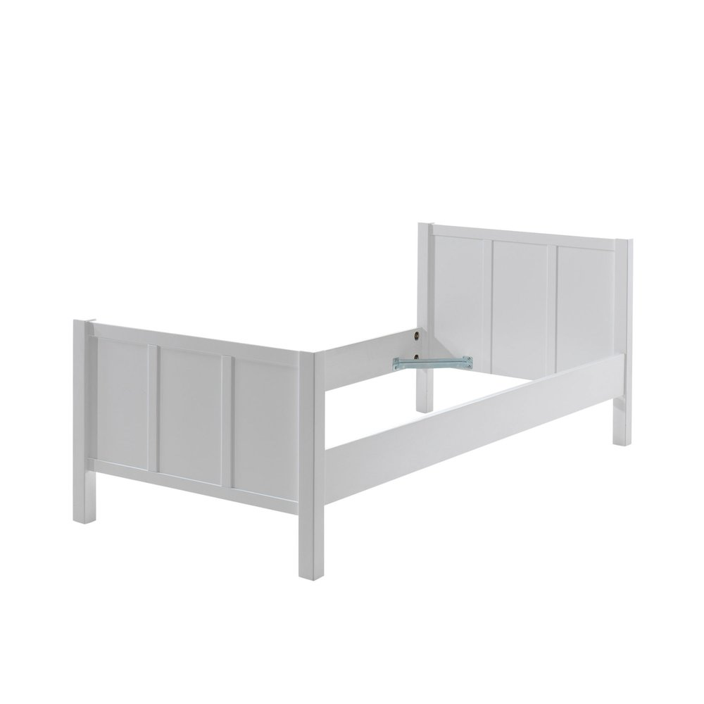 Lit - Lit 90x200 cm laqué laqué blanc - ABIGAEL photo 1